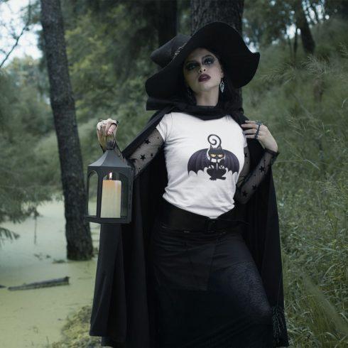 Bat kitten női póló