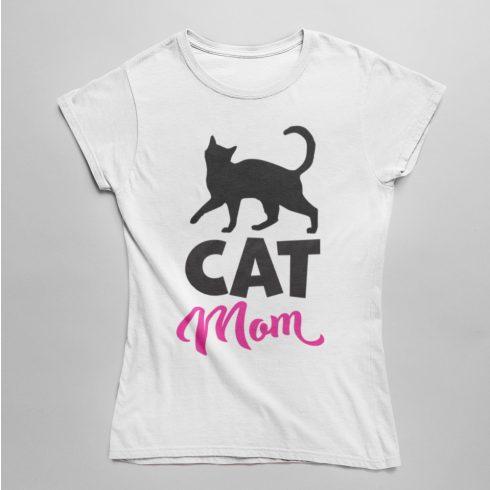 Cat mom női póló