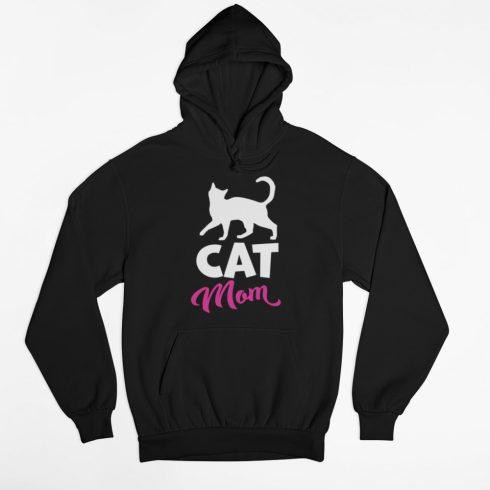 Cat mom női pulóver